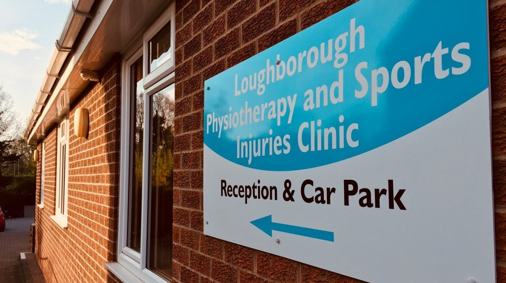 Loughborough Physio sign